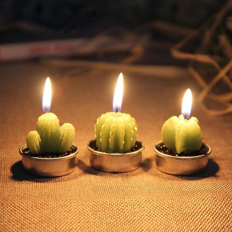 Cactus Candle 6PCS Set