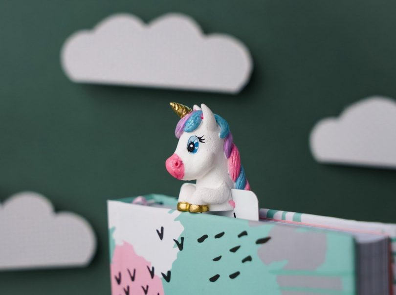 Unicorn babe bookmark by MYBOOKMARK