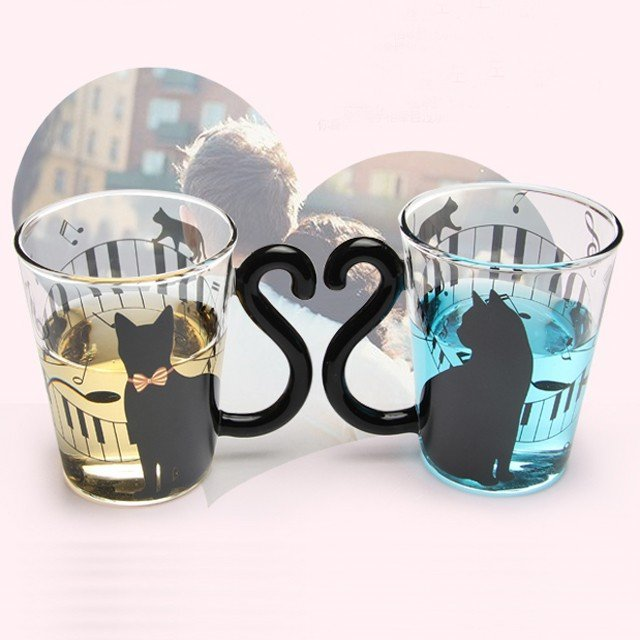 Creative Cat Glass Milk Mug