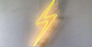 Lightning Bolt Neon Sign