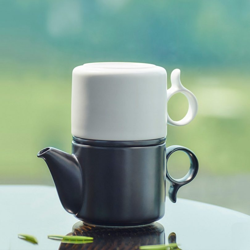 ZENS Large Creative Loose Leaf Gong-Fu Ceramic Coffee Pot