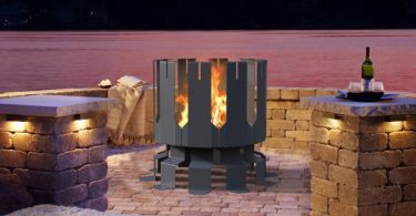 Ion Gunmetal Grey Fireplace by Decorpro