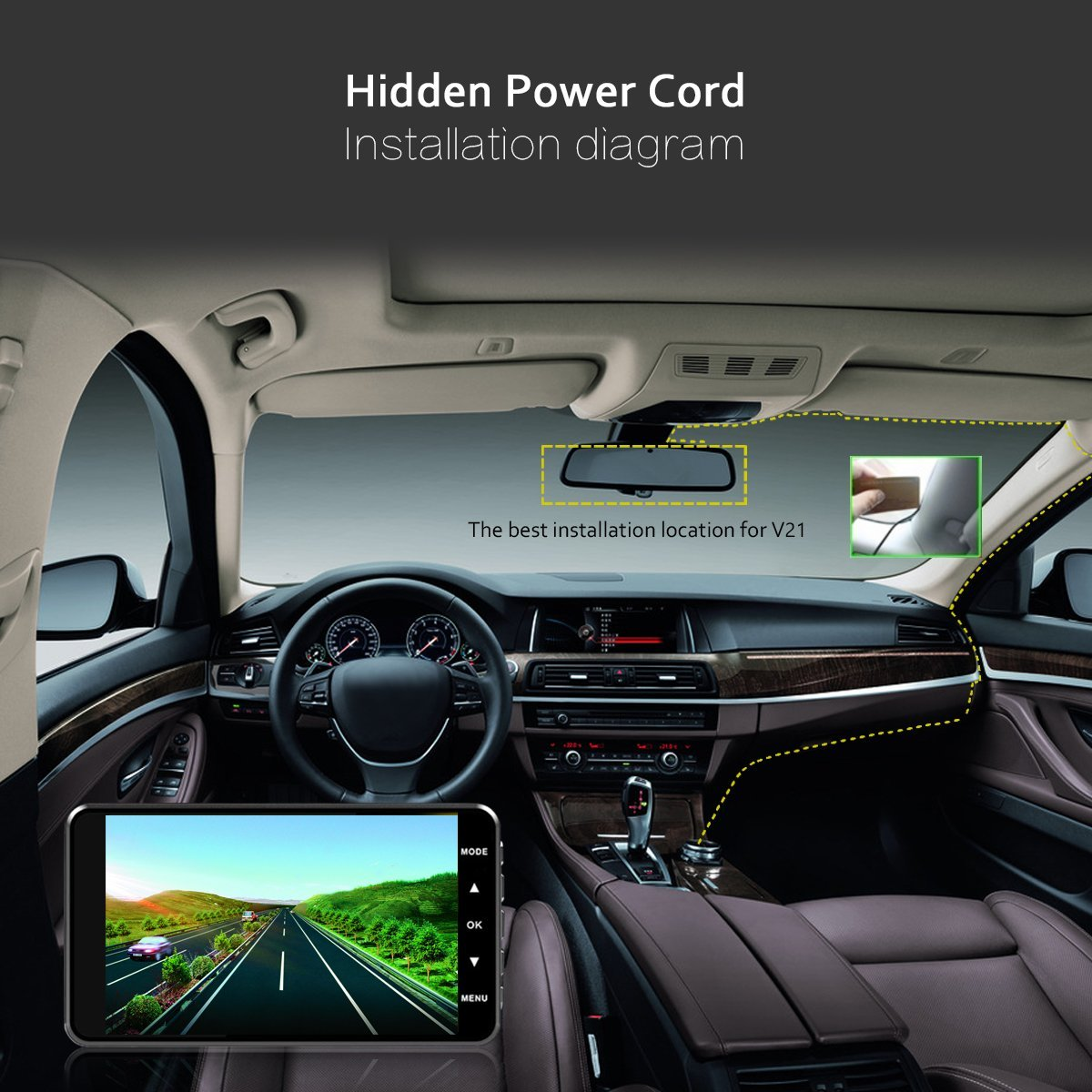 Meyoung 4″ FHD 1080P Car Camera Recorder