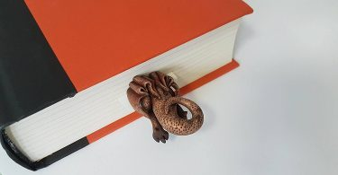 Dragon handmade bookmark
