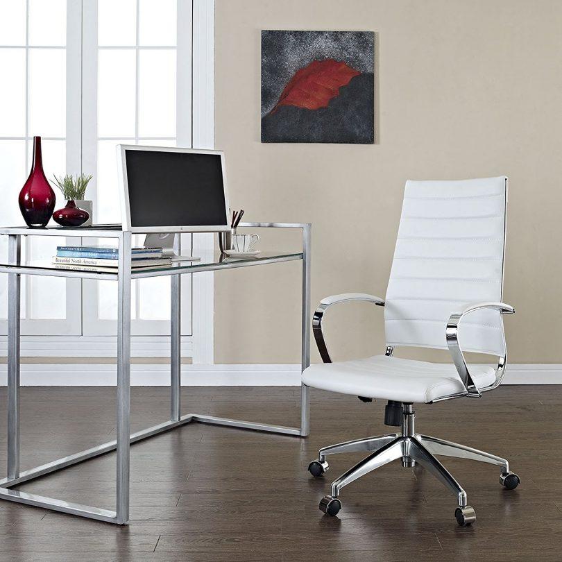 LexMod Jive Ribbed High Back Executive Office Chair