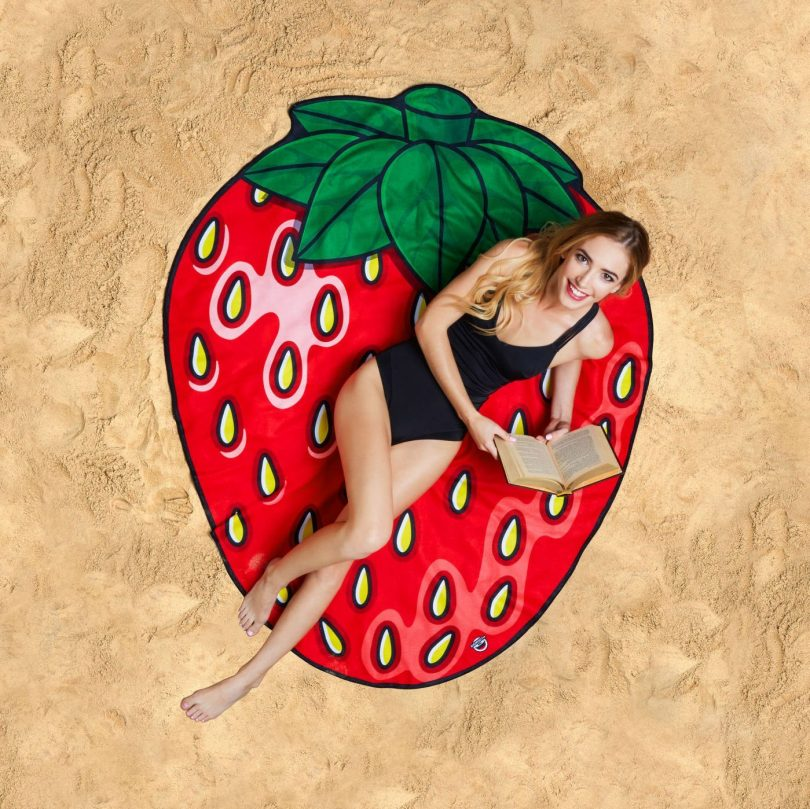 Gigantic Strawberry Beach Towel Blanket