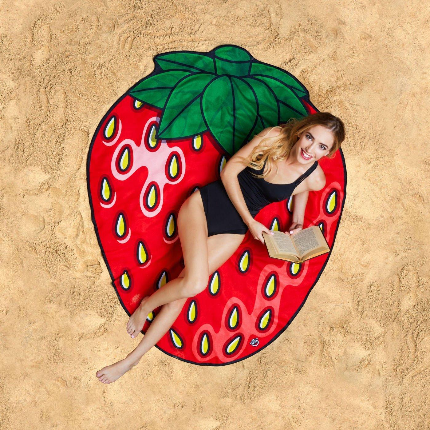 Gigantic Strawberry Beach Towel Blanket