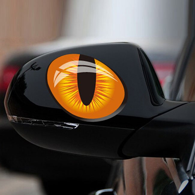Cat Eyes Car Stickers 187 Petagadget