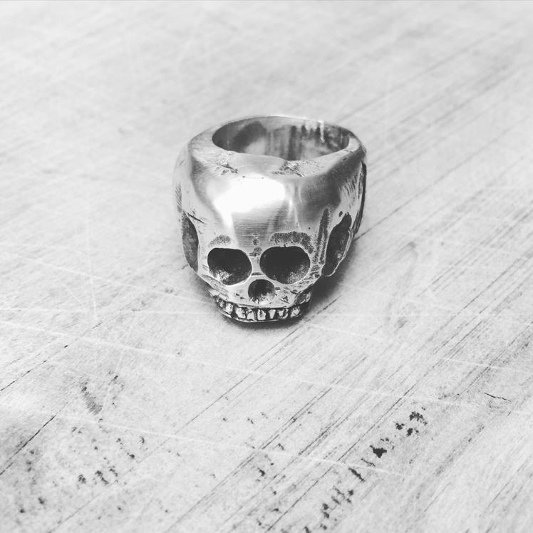 Handcrafted Silver Skull Ring