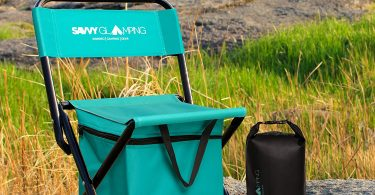 Mini Portable Folding Chair with Built In Cooler by Savvy