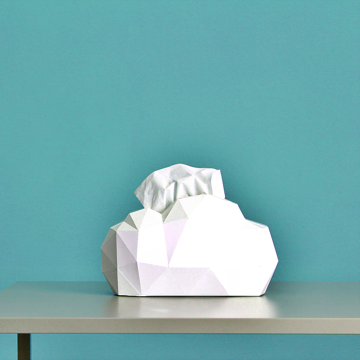 Cloud Paper Tissue Case by Kinyo Design