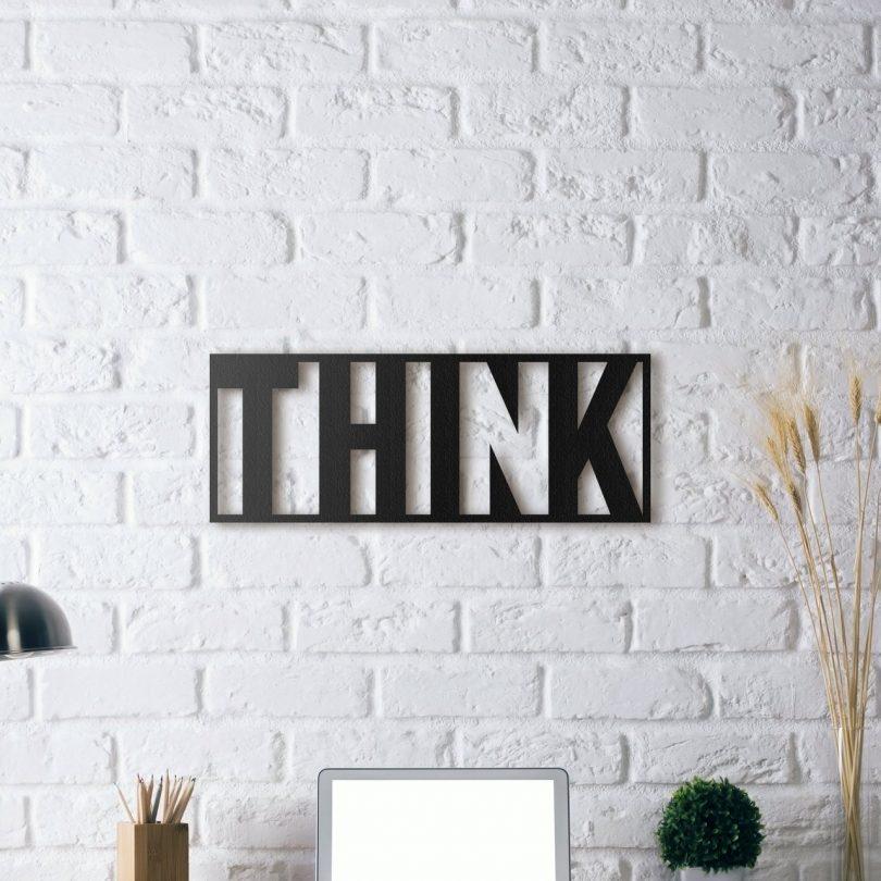 Think Metal Wall Art