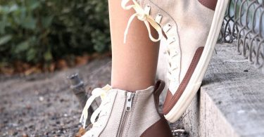 2325165b5c7 Khaki High Top Vintage by Burnetie