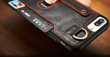 Leather Flip Wallet Slim Case