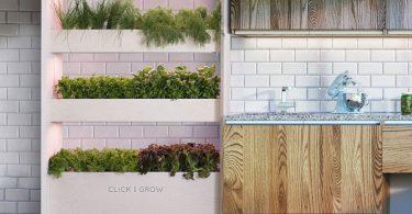 Click & Grow Wall Farm Indoor Vertical Garden