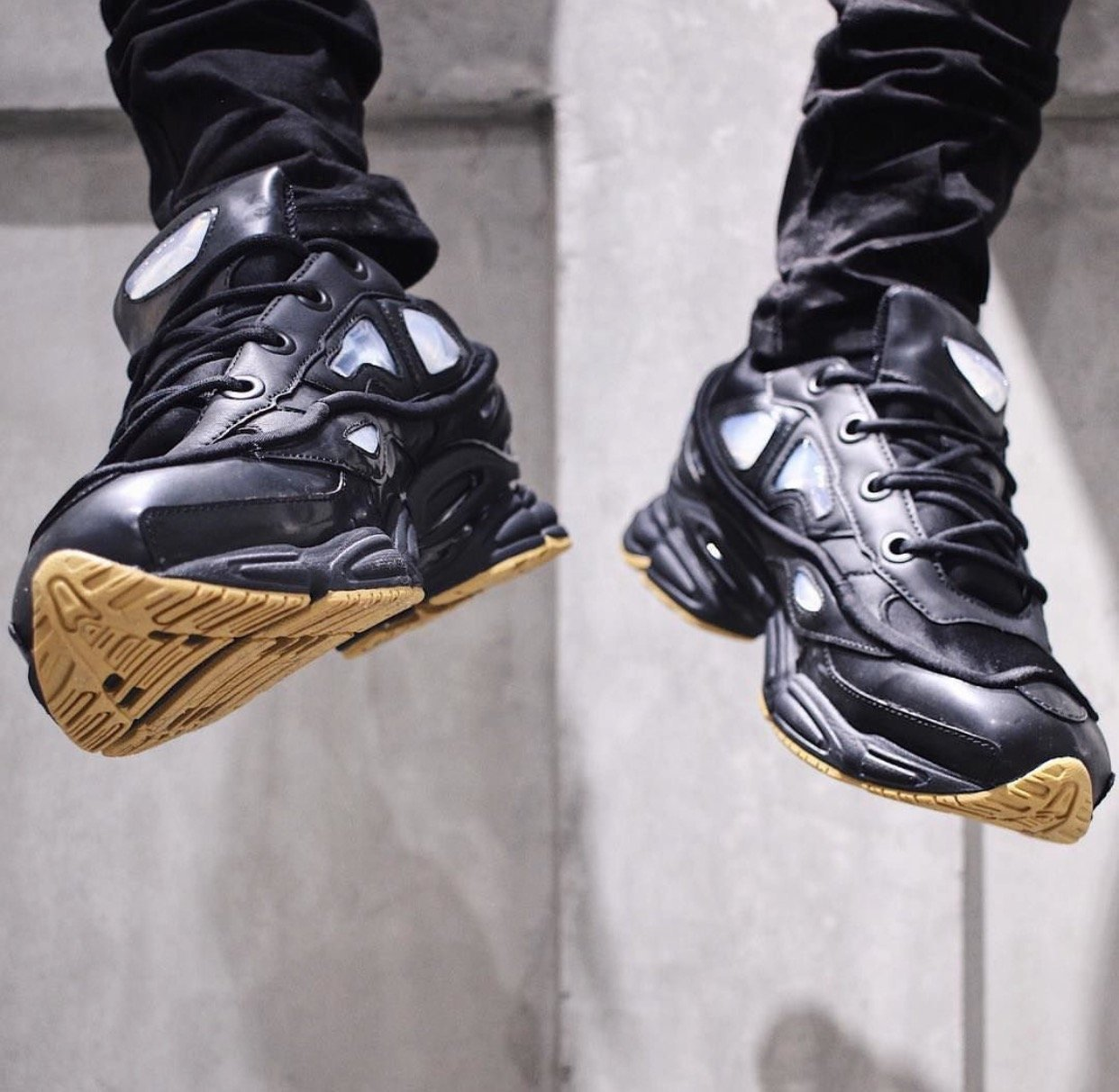 entire collection a few days away new images of Raf Simons Black adidas Originals Edition Ozweego Bunny ...
