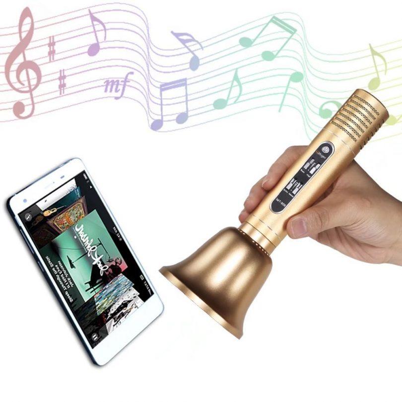 Handhold Bluetooth Speaker Karaoke Microphone