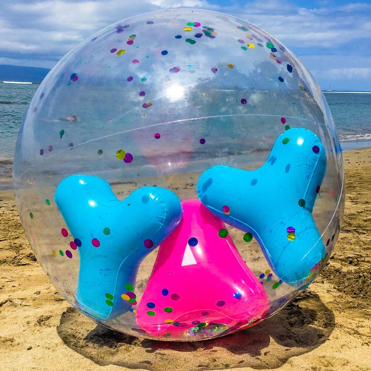 Giant YAY Confetti Beach Ball