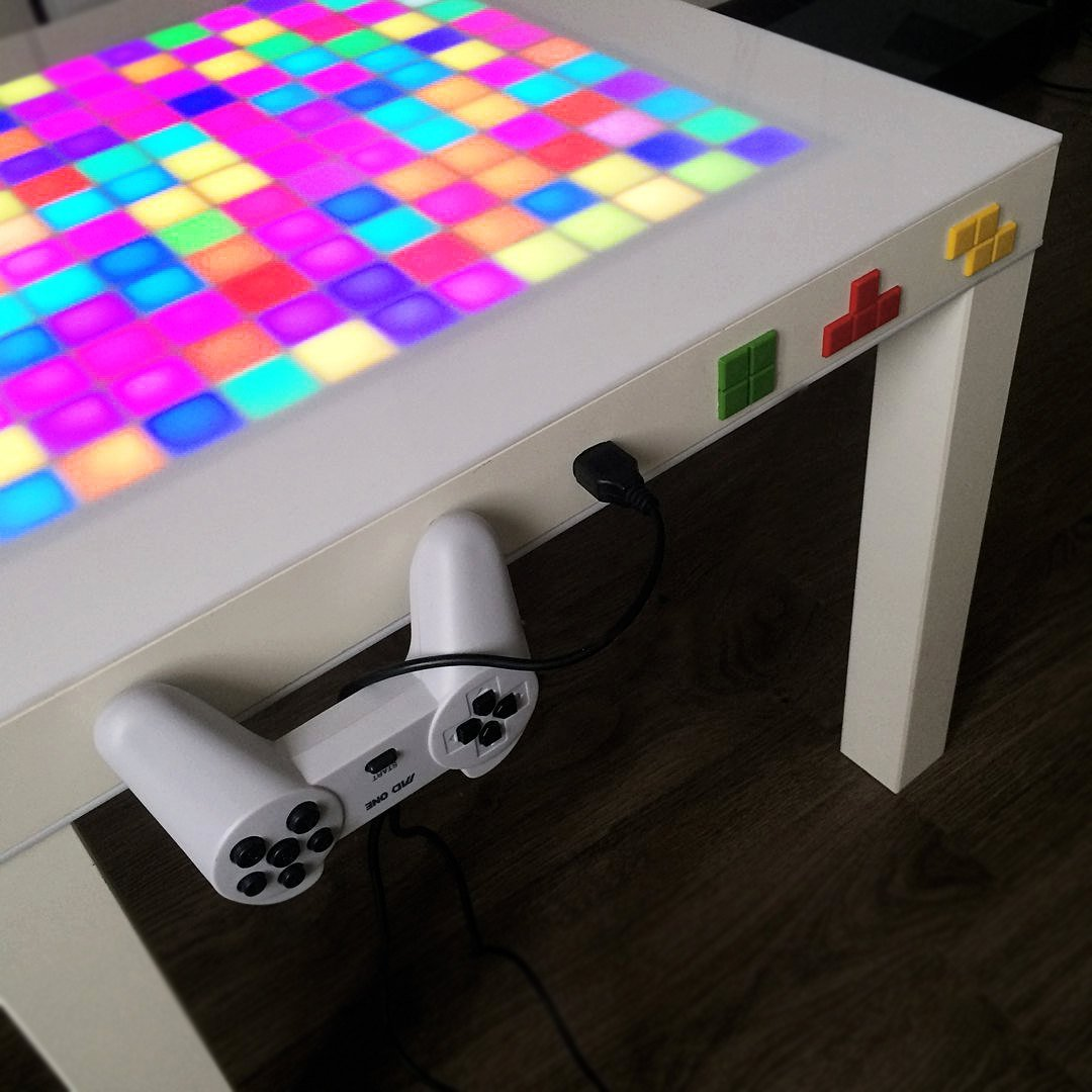 Tetris Game LED Side Table