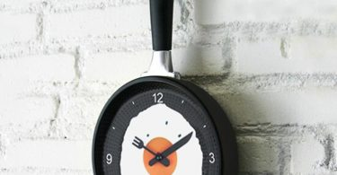 Creative Omelette Fry Pan Wall Clock