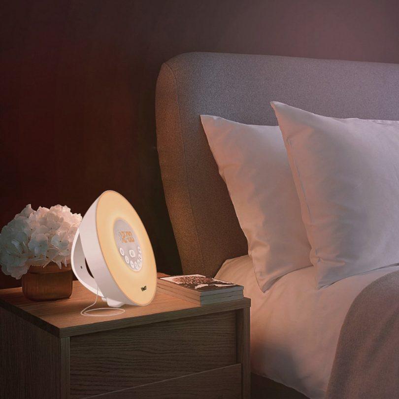 Wake-Up Light Colored Sunrise Alarm Clock