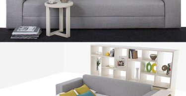 Broad Sofa Bed Grey