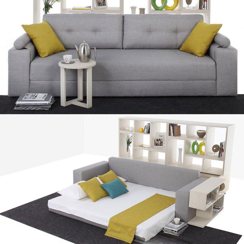 Broad Sofa Bed Grey