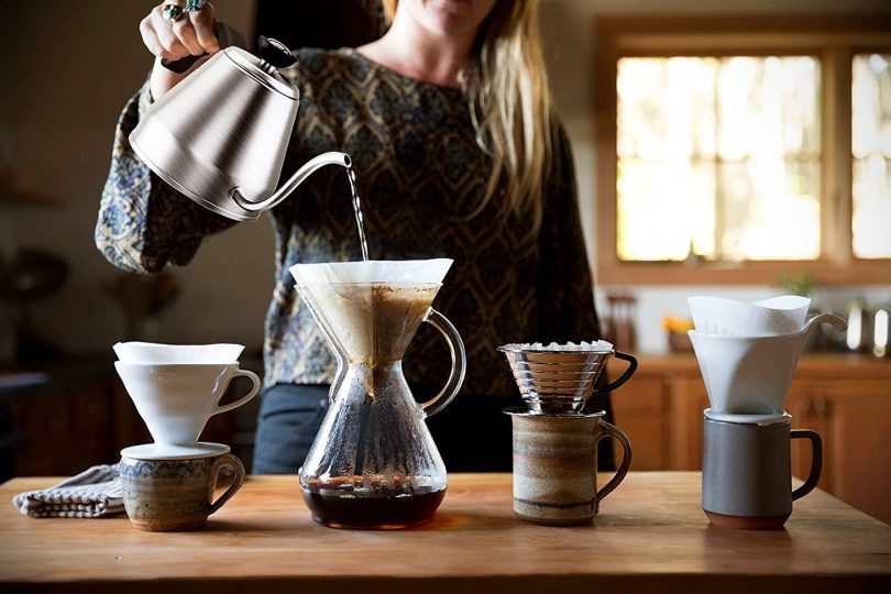 Gooseneck Pour Over Coffee Hand Dripper Kettle