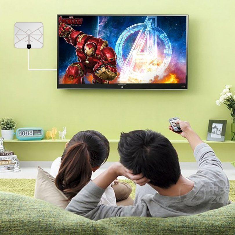 Wsky 60-100 Miles 1080P Transparent Digital HDTV Antenna