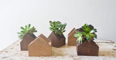 Tiny House Shaped Plant Box