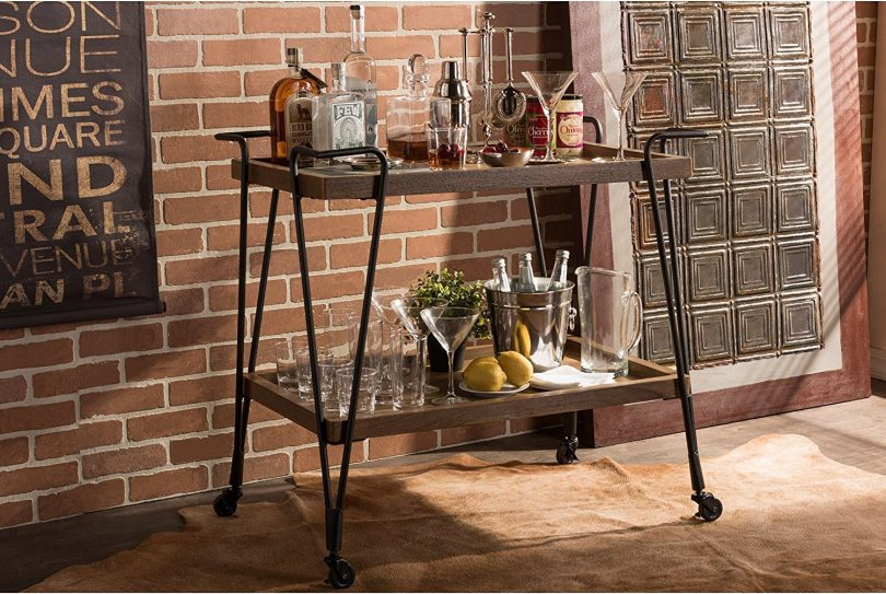 Industrial Style Mobile Serving Bar
