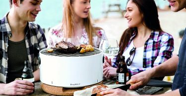 White Tabletop BBQ