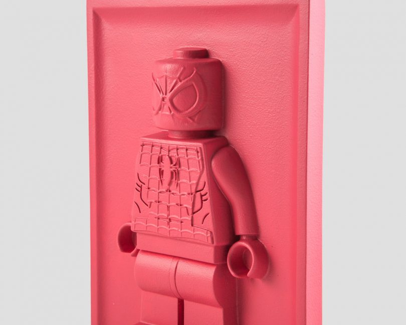 Spider-Man Lego Bas-Relief Sculpture