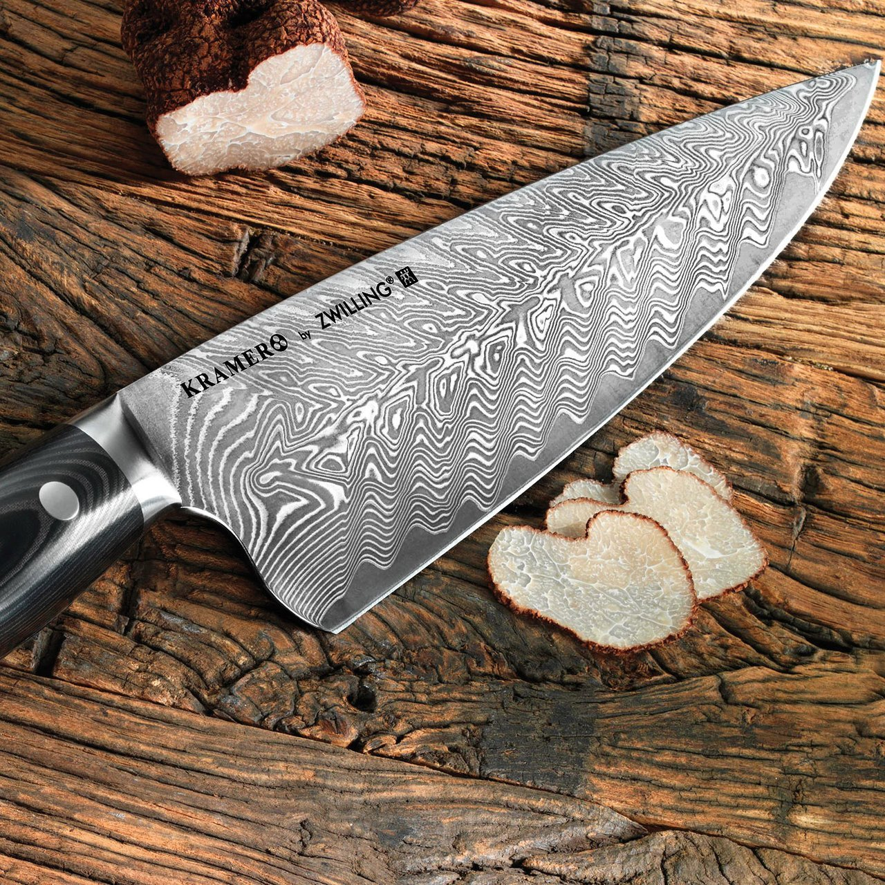Bob Kramer by Zwilling Stainless Damascus 8 Inch Chef Knife