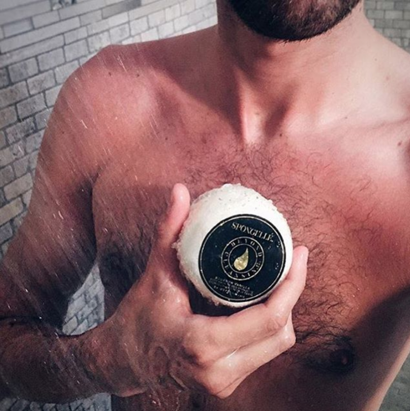 Bourbon Vanilla Travel Body Wash Infused Buffer