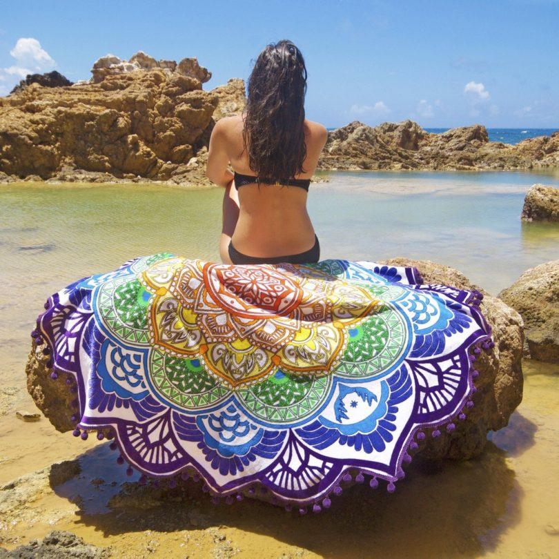 Mandala Tassel Beach Towel