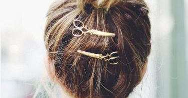 Silver and Gold Scissor Clips