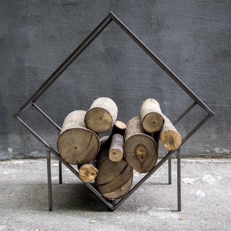 Small Firewood Holder Quadrat