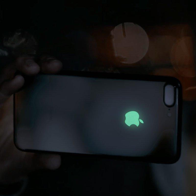 Glow In The Dark Apple Logo iPhone Decal Sticker