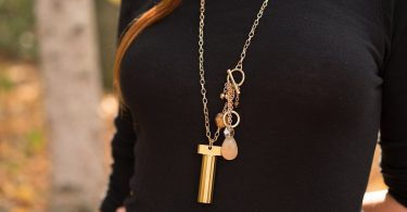 CIELO Gold Stainless Steel Keychain Pill Fob