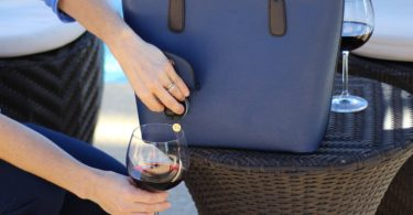PortoVino Blue Wine Purse