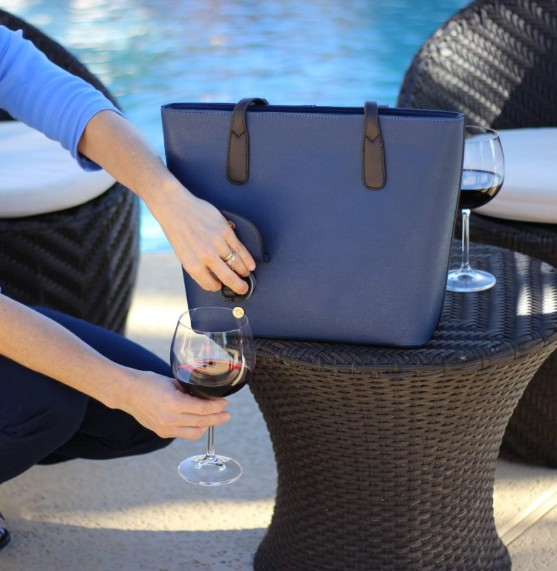 PortoVino Blue Wine Purse