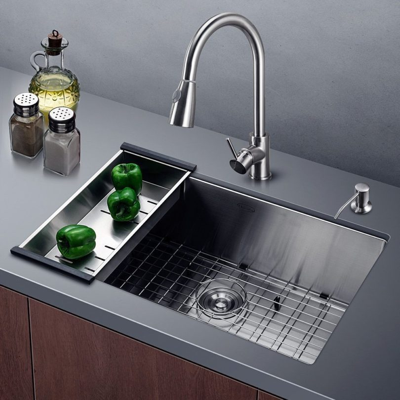 Harrahs 30 Inch Commercial Stainless Steel Kitchen Sink