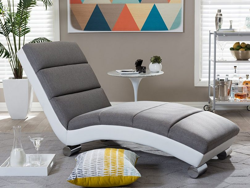 Baxton Studio Percy Modern Contemporary Chaise Lounge