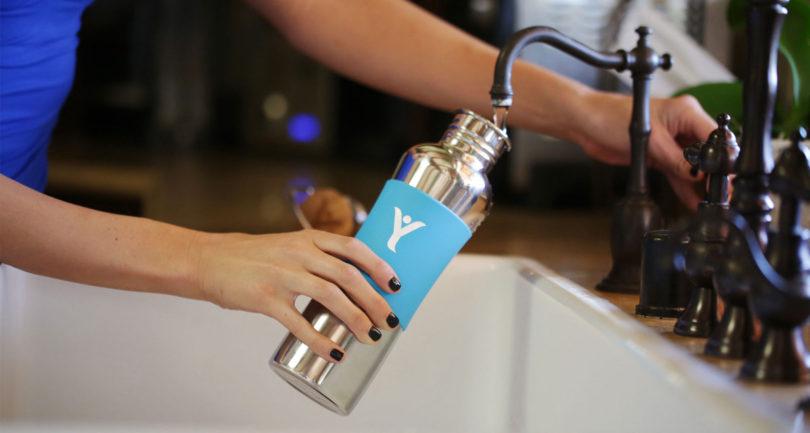 DYLN Inspired Living Water Bottle Chrome