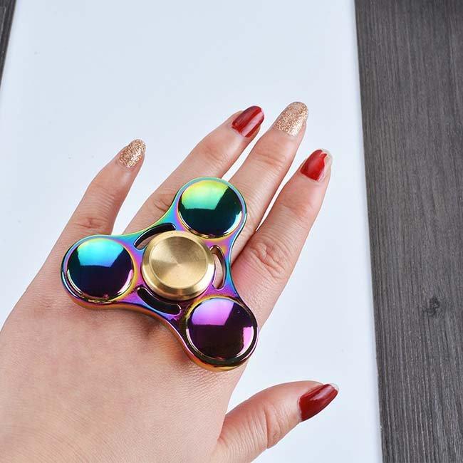 Colorful Metal Fidget Spinner Toys