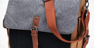 Tri Color Canvas Messenger Bag