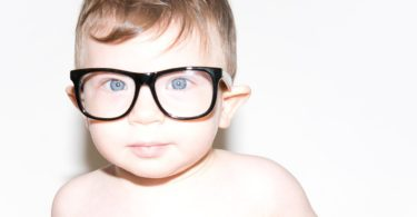 Flexible Black UV Baby Glasses