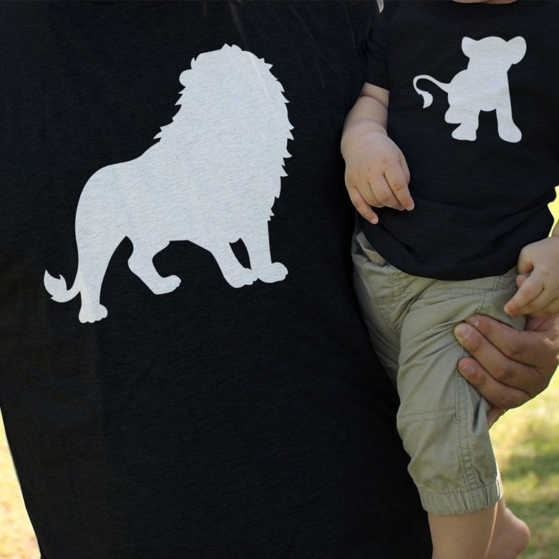 Lion & Cub Matching Dad and Baby Set