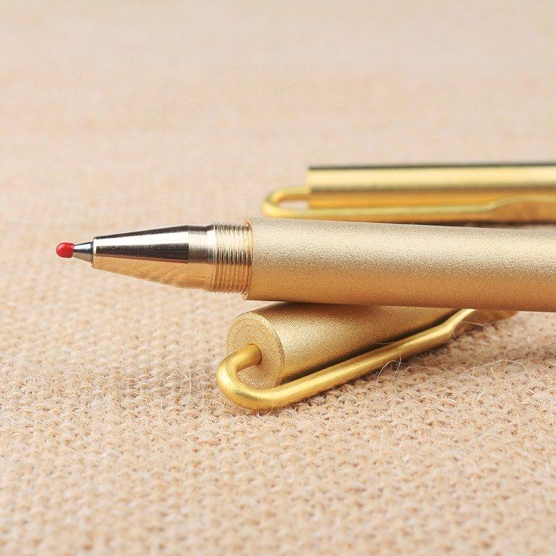 Brass Clip Ballpoint Pen